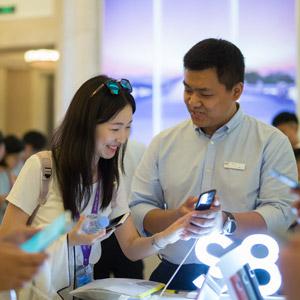 삼성전자, '갤럭시S8·S8+' 중국 상륙