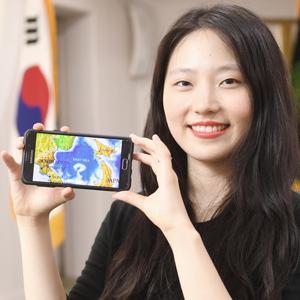 스마트폰 앱의 '일본해'를 '동해'로 바로잡은 홍효진 씨