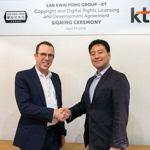 KT, 란콰이펑 그룹과 웹툰으로 글로벌 진출 도전