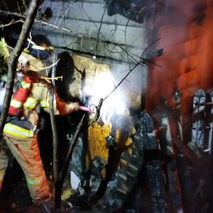 홍천서 펜션 창고에 불…1억원 피해