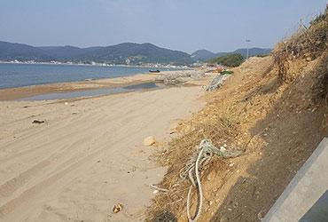 [사라지는 백사장] 예전 길고 넓은 해변 온데간데없고…침식 가속화