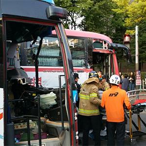 광역버스·통근버스 사고 현장