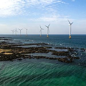 제주에 건설된 국내 첫 해상풍력발전단지