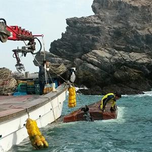 흑산도 해상 전복된 어선
