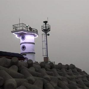 LED 경관조명으로 새단장한 방포항 방파제등대