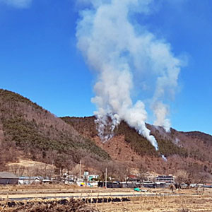 충남 금산군 야산 불…660㎡ 태우고 2시간 30분만에 진화