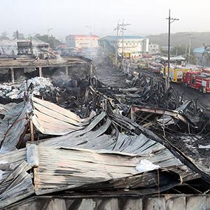 폭격 맞은 듯 처참한 인천 화재 현장