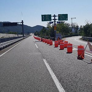 태풍에 유실된 울산-밀양 국도 24호선 개통