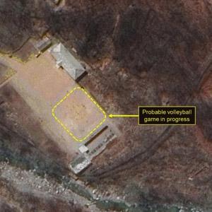 북한 풍계리 핵실험장, 배구경기 포착