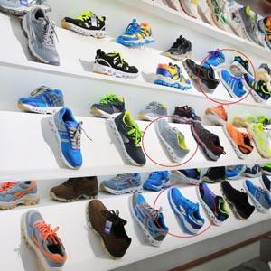 해외 유명 스포츠 브랜드를 닮은 북한 생산 운동화