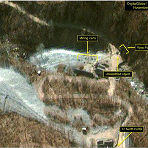 """北 풍계리 핵실험장 서쪽 갱도 지역서 """"높은 수준"""" 활동 지속"""