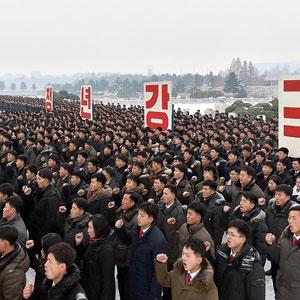 북한 청년들의 맹세대회