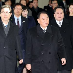 북한 김영철, 남측 도착