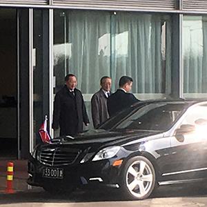 '스웨덴 방문' 리용호 북한 외무상 베이징 도착