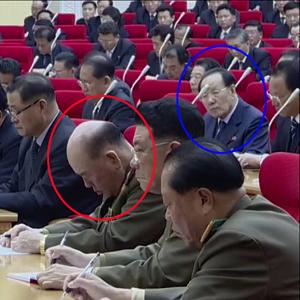 북한 리명수, 김정은 연설 중 졸다 '저승사자' 조연준에 딱 걸려