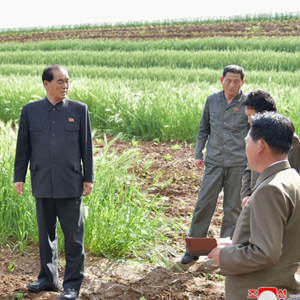 황해남도 농사 현장 시찰한 북한 박봉주