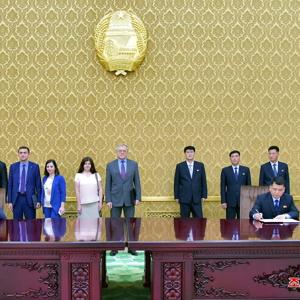 북한 김일성·김정일주의청년동맹-러시아청소년연합 민족이사회 회담