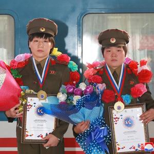 북한 여자레슬링, 55㎏·59㎏급 금메달