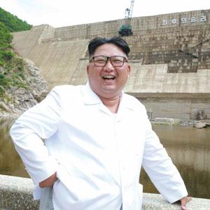 김정은, 함경북도 어랑천발전소 건설현장 시찰