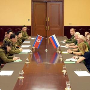 북한, 러시아 노병연맹 대표단과 회담