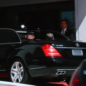 [평양정상회담]차량 함께 탄 문재인 대통령과 김정은 국무위원장