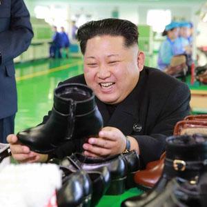 北 김정은, 원산구두공장 방문