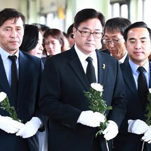 우원식 원내대표, 구의역 사고 추모