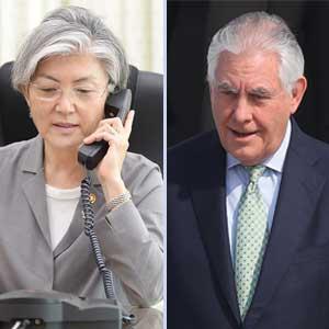 강경화, 틸러슨 국무장관과 첫 통화