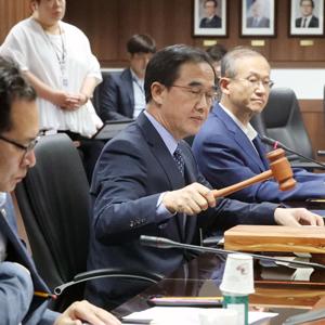 남북교류협력추진협의회 개회하는 조명균 장관