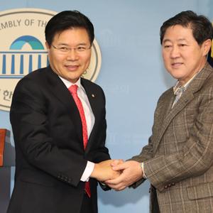 홍문종·유기준 후보, 홍문종으로 단일화