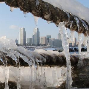 얼어붙은 도심