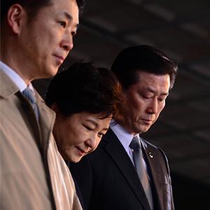 삼성동 자택으로 향하는 박 전 대통령