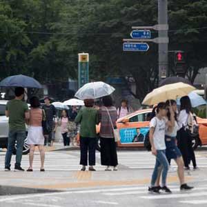 가랑비 내리는 서울…폭염주의보 8일 만에 해제