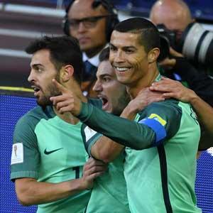 '호날두 결승골' 포르투갈, 러시아에 1-0 승리