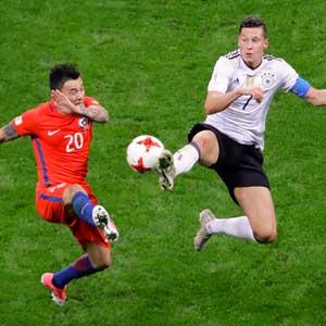 칠레, 독일과 1-1 무승부…컨페드컵 B조 선두