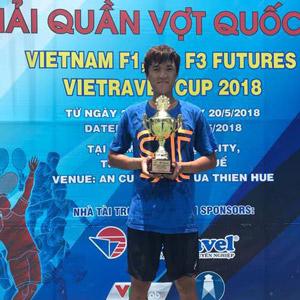 남지성, 베트남 퓨처스 테니스 단·복식 석권