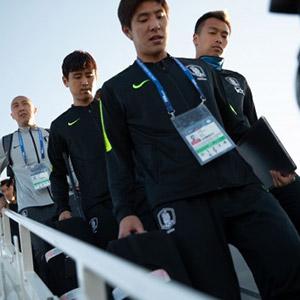 로스토프 도착한 대한민국 대표팀