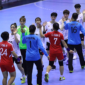 여자 핸드볼 남북 대결, 한국 39-22 승