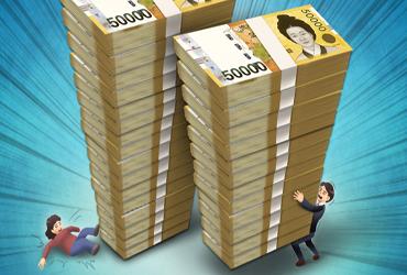 은행대출 3명중 1명, 2년간 한푼도 안써도 빚 못갚는다