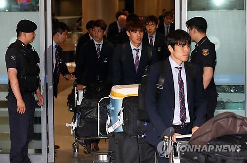 La selección nacional regresa a casa