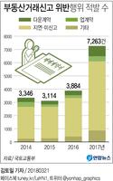 [그래픽] 작년 부동산실거래 허위신고 적발 2배 급증