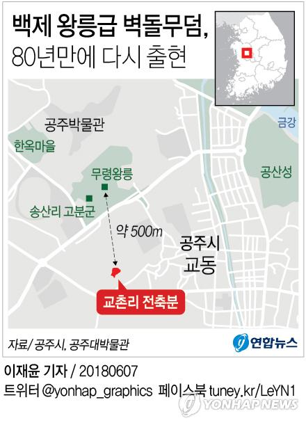 [그래픽] 백제 왕릉급 벽돌무덤, 80년만에 다시 출현