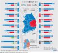 광역단체장 선거 방송3사 출구조사 결과