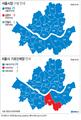 서울시장·서울 기초단체장 구별 판세