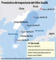 Pronóstico de trayectoria del tifón Soulik