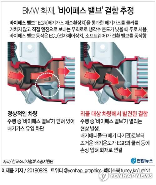 BMW 화재 원인은 EGR 밸브 문제…회사 발표와 달라