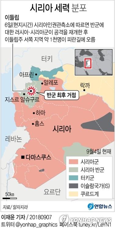 시리아반군 최후거점, 피란 시작…주민 종이컵 방독면이라도(종합)