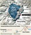 Itinéraire de Moon et de Kim au mont Paekdu