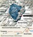 Ruta al monte Paekdu de Moon y Kim
