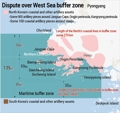 Dispute over West Sea buffer zone
